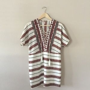 Forever 21 tribal print boho mini dress size xs